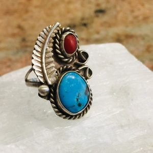 Vintage Sterling Native American Ring